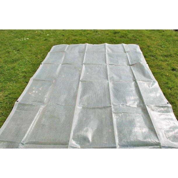 Fräscha Presenning 8 x 10m PE 200 gr/m² Transparant/vit - Presenningar PE UW-85