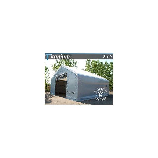 Tälthall 8 x 9 x 3 x 5m Titanium 600g PVC
