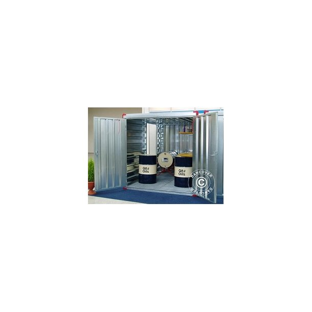 Miljöcontainer 2,25 x 2,2 x 2,2 m.