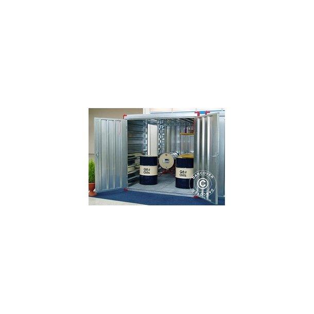 Miljöcontainer 3 x 2,2 x 2,2 m.
