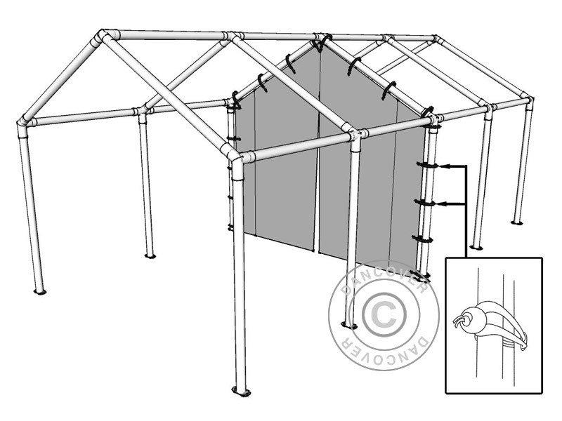 6 m PVC mellanvägg med dragkedja för partytält SEMI PRO
