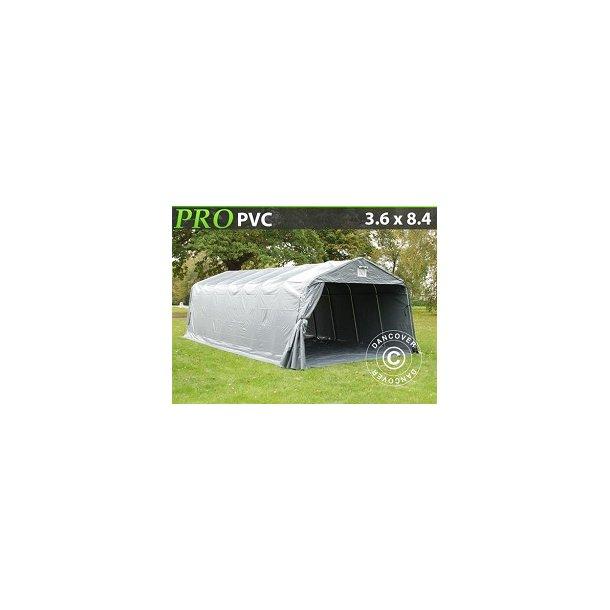 Garagetält PRO 3,6 x 8,4 x 2,7m PVC med golvduk
