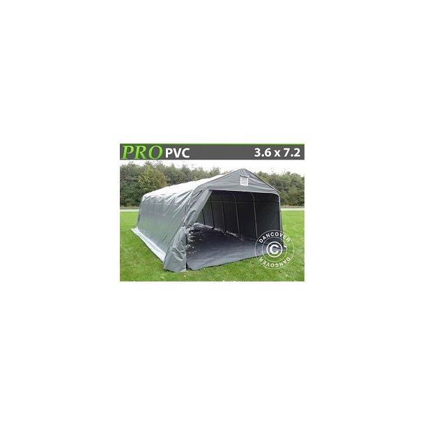 Garagetält PRO 3,6 x 7,2 x 2,7m PVC med golvduk