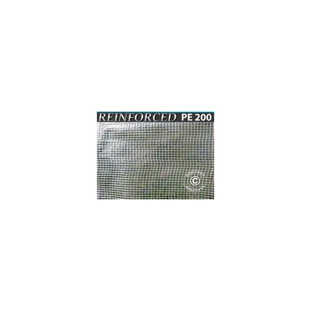 Presenning 10 x 16 m PE 200 gr/m² Transparant/vit