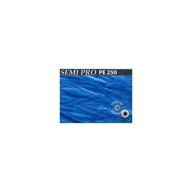 Presenning 10 x 15 m  PE 250 gr/m²  Blå