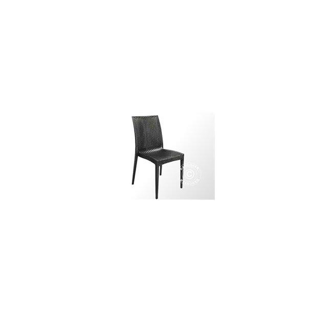 Stol, Rattan Bistrot, 49x53,5x89 cm, Antracit 6 st