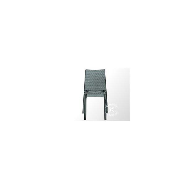 Stol, Hypnotic, 50x54x84 cm, Rökig transparent,6st