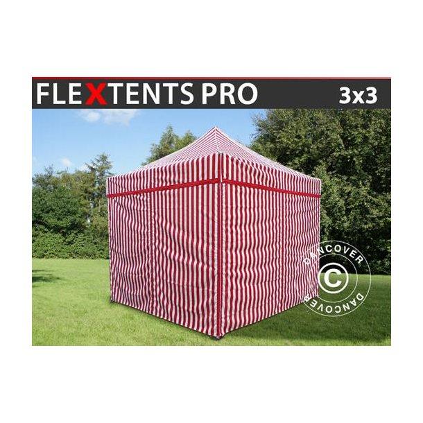 FleXtents Pro 3x3m Randigt, inkl. 4 sidor