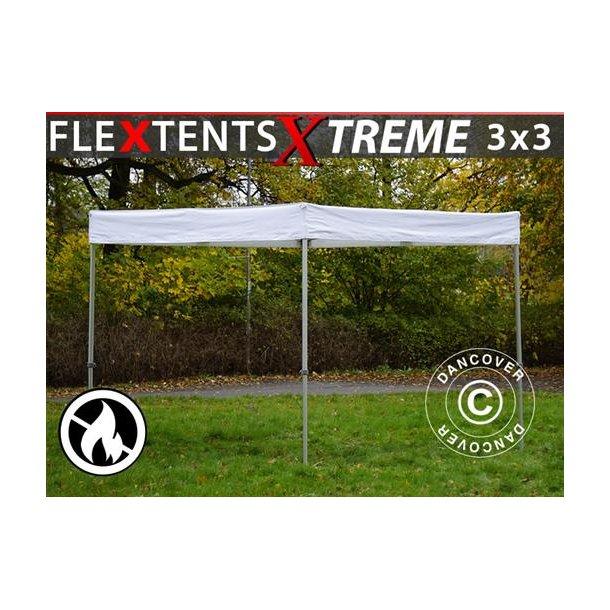 Snabbtält FleXtents® Xtreme Exhibition 3x3m, Vit, Flamsäkert
