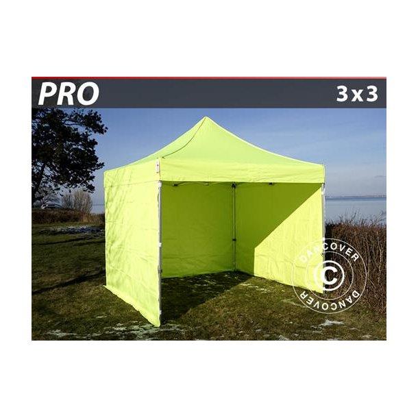 FleXtents PRO 3x3m Neongul/grön, inkl. 4 sidor