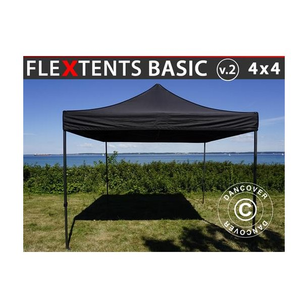 FleXtents Basic v.2, 4x4m Svart
