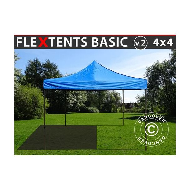 FleXtents Basic v.2, 4x4m Blå