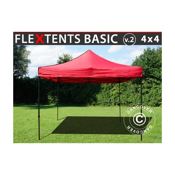 FleXtents Basic v.2, 4x4m Röd