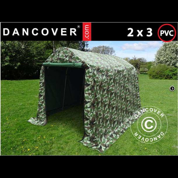 Lagertält 2,0 x 3,0 x 2,0m PVC Kamouflage