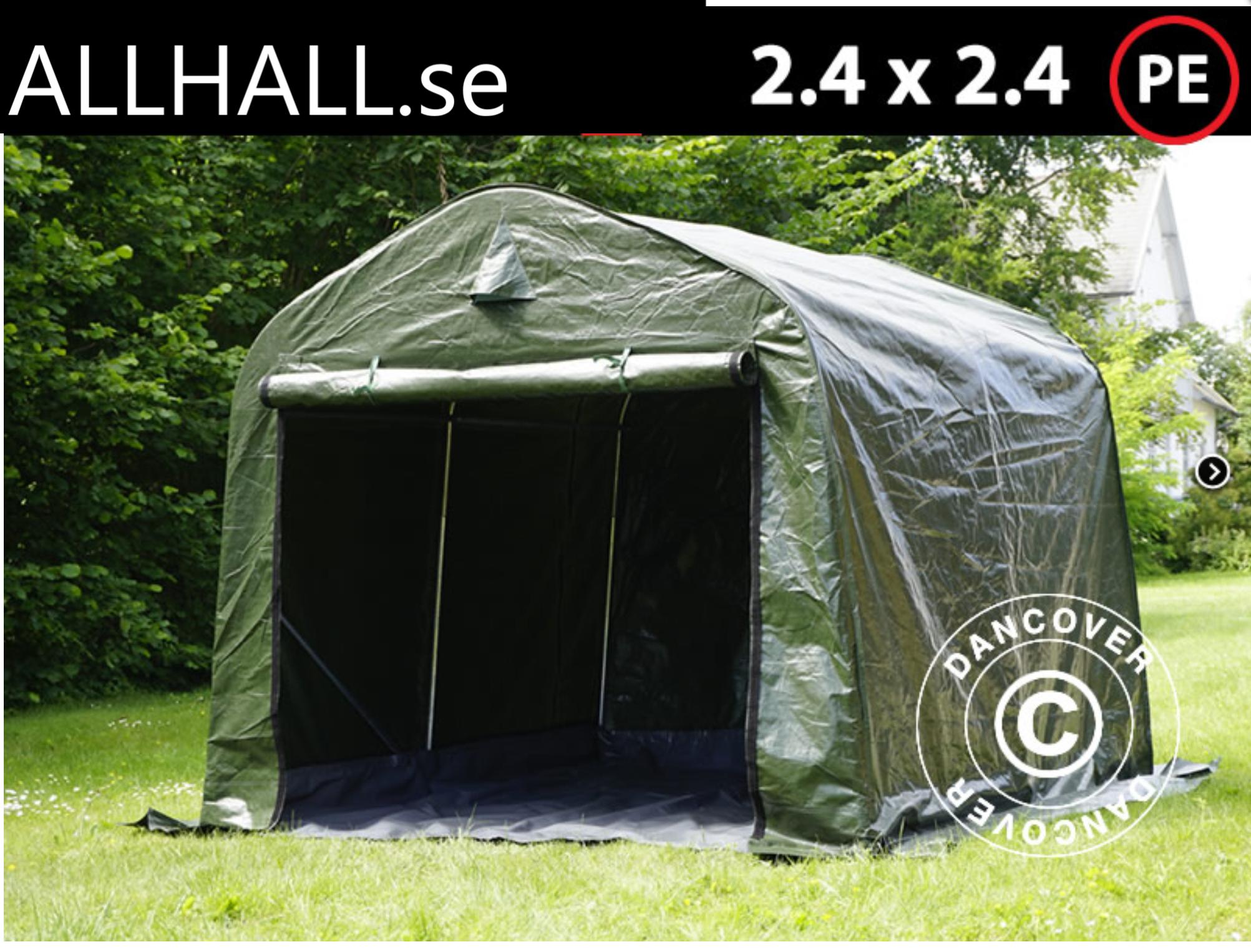 Lagertält 2,4 x 2,4 x 2 m PE Small AllHall i Sverige AB