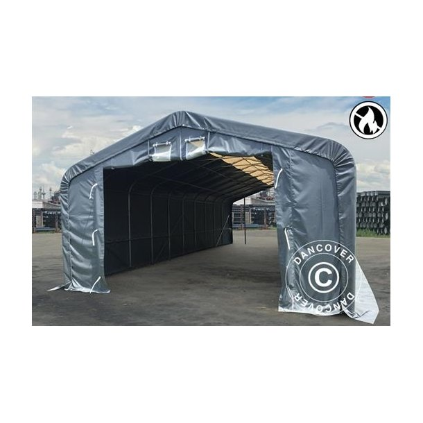 Lagertält PRO 7x7x3,8m PVC med takpanel