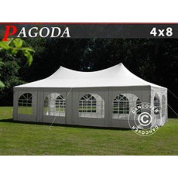 Partytält Pagoda 4x8m, Vit